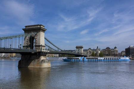 Chain Bridge or Lanchid Budapest Hungary Stock Photo - 9318689