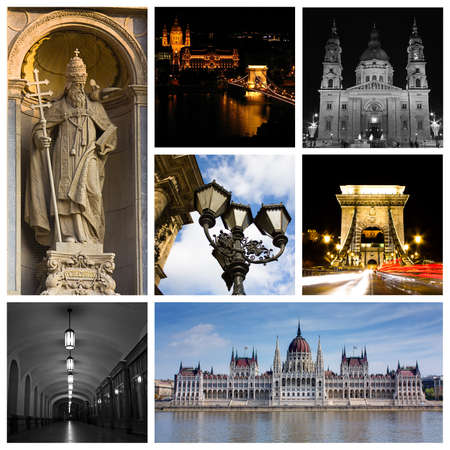 Montage or collage of images from Budapest Hungary Stock Photo - 10061535