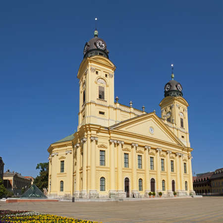 Great Church or Nagytemplom Calvinist Chusrch in Debrecen Eastern Hungary Stock Photo