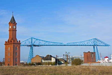 Transporter bridge (Built 1911) across the river tees in Middlesborough Stock Photo - 11307714