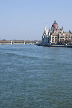 Hungarian Parliament Building on the banks of the River Danube in Budapest Hungary Stock Photo - 13025830