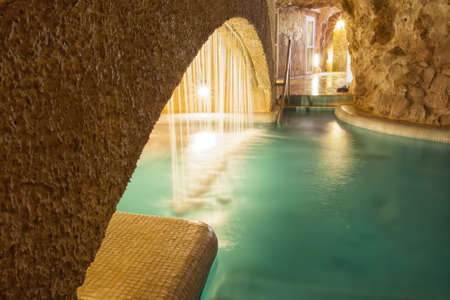 Thermal Spa in a cave, Barlang Furdo in Northern Hungary