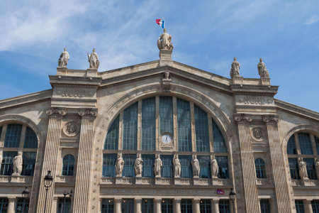 nord: Gare Du Nord Railway Station in Paris France