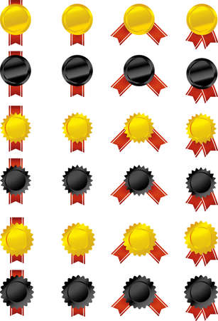 Vector set of 24 medals  Eps file for best quality  Vector
