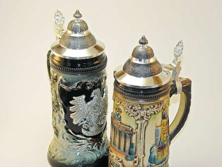 Beer steins from Germany for Octoberfest photo