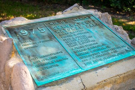 A Shot of a Plaque in Colohatchee Park