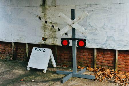 A Shot of Signage at an Abandoned Rest Stop Reklamní fotografie