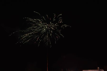 A Shot of a Streak of Fireworks on the Fourth of July