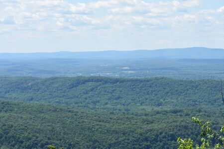 A Vibrant Shot of the Landscape atop a mountain at the Deleware Water Gap.