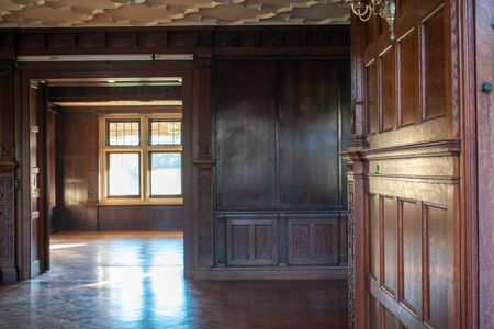 The Antique Wooden Interior of an Old Fashioned Estate