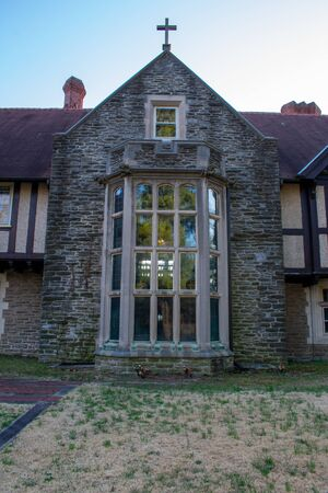 A Large Ornamental Window at the Elkins House