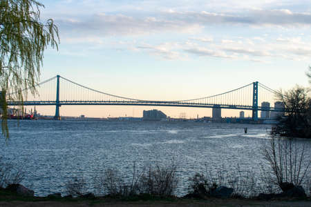 Looking Out Over the Newly Renovated Penn Treaty Park at the Ben Franklin Bridge in Philadelphia