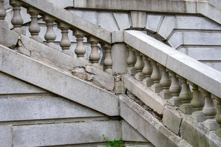 Detailed Stone Steps Leading Up to a Large Ornamental Mansion