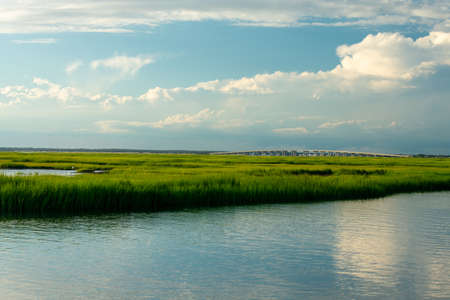 A Gorgeous View of the Bay and Lush Swampland Behind Wildwood New Jersey