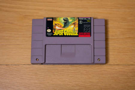 Super Godzilla For the Super Nintendo Entertainment System, a Popular Retro Video Game