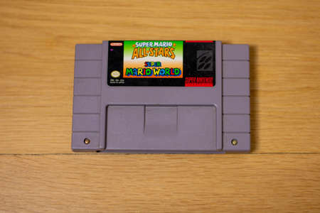 Super Mario All Stars For the Super Nintendo Entertainment System, a Popular Retro Video Game