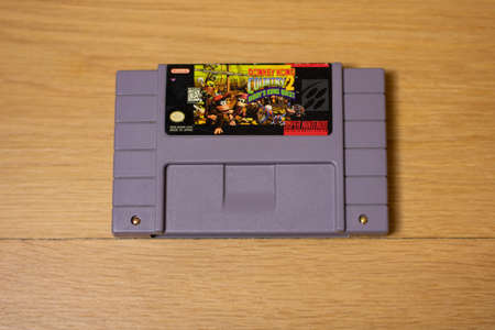 Donkey Kong Country 2 Diddy Kong's Quest  For the Super Nintendo Entertainment System, a Popular Retro Video Game