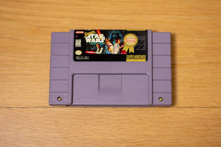 Super Star Wars For the Super Nintendo Entertainment System, a Popular Retro Video Game