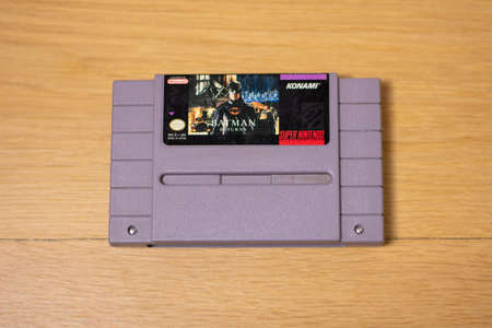 Batman Returns For the Super Nintendo Entertainment System, a Popular Retro Video Game