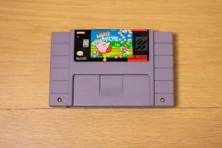 Kirby's Avalanche For the Super Nintendo Entertainment System, a Popular Retro Video Game 新聞圖片
