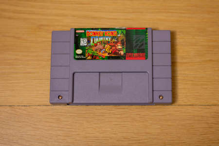 Donkey Kong Country For the Super Nintendo Entertainment System, a Popular Retro Video Game