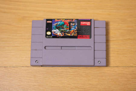 Street Fighter 2 For the Super Nintendo Entertainment System, a Popular Retro Video Game