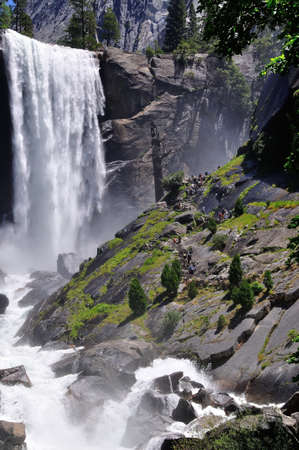 Vernal fall in Yosemite National Park photo