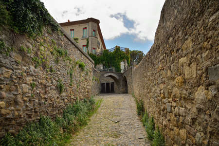 roussillon: Old cobbled street in Carcassonne