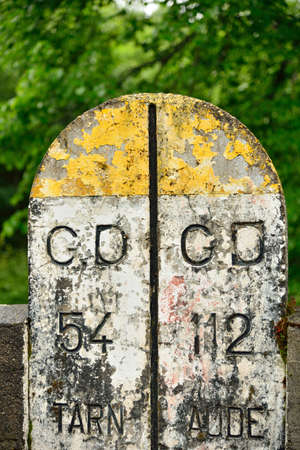 kilometer: Old kilometer marker in France between