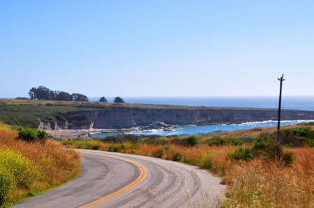 Coastal road in Montana de Oro state park, California Central Coast, USA photo