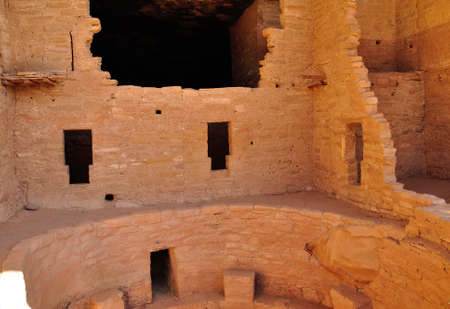 Interior of cliff dwelling in Mesa Verde National Park, Colorado, USA photo
