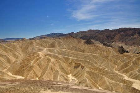 badland: Badland at Zabriskie point  in Death Valley National Park, California, USA Stock Photo