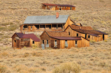 Old houses and buildings in Bodie State Historic Park  Bodie is a vey well preserved ghost town in California, USA  photo