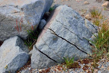 Freezinf 水によって岩盤 写真素材