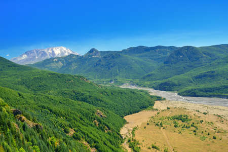 helens:  Mount St Helens and valley, Washington state