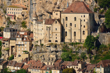 Rocamadour, a beautiful french village on a cliff in Midi-Pyrenees. Close-up.