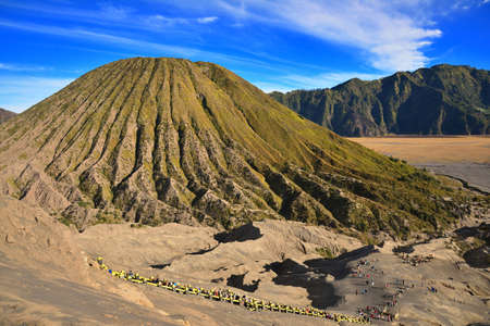 Mount Batok as seen from Bromo, Java, Indonesia photo