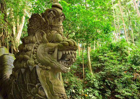 Beautiful dragon sculpture in the jungle, Ubud, Indonesia photo