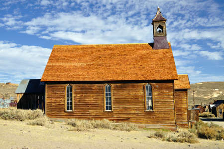Old church in Bodie State Historic Park. Bodie is a vey well preserved ghost town in California, USA. photo