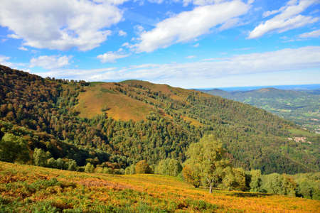 Colorful Ariege Pyrenees mountains in fall, France photo