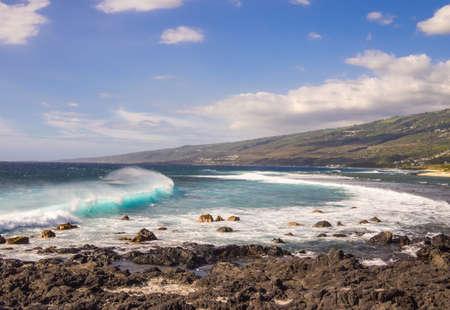 sel: Seascape at la Pointe au Sel, Saint Leu in la Reunion Island