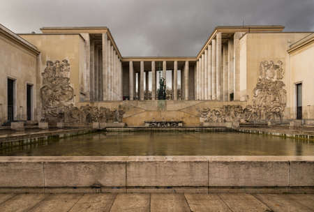 comtemporary: Palais de Tokyo building in Paris,  hosting two famous modern and contemporary art museums, France Editorial