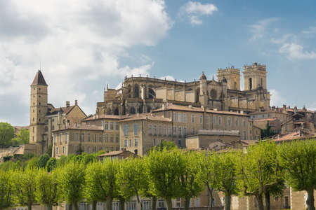 gascony: Cityscape of Auch, capital of Gascony with its cathedral, Gers, France
