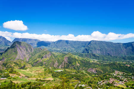 cirque: Cirque de Salazie seen from above, la Reunion Island Stock Photo
