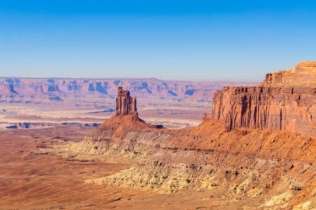 butte: Mesa and butte in canyonlands national park, USA Stock Photo