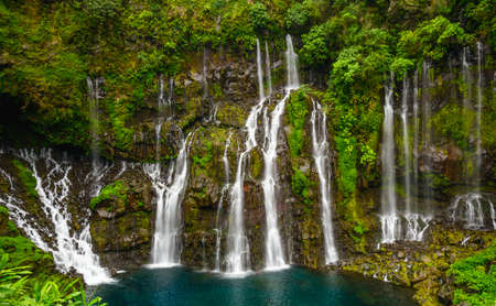 Cascade of Grand Galet, la Reunion island Zdjęcie Seryjne
