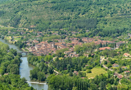 noble: Saint Antonin Noble Val, an old village in Midi-Pyrenees, France