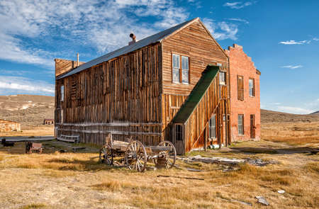 wild west: Old buildings in Bodie ghost town, California, USA