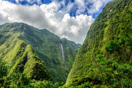 cirque: Cascade blanche, cirque di Salazie, la Reunion Island
