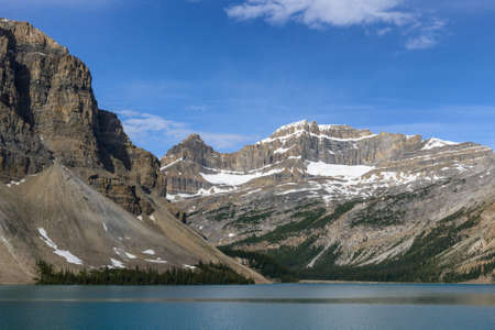 Lake Bow in Banff National Park, Alberta, Canadian rockies Stock Photo